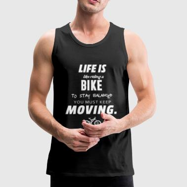 Riding a bike - Men's Premium Tank
