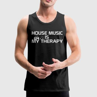 House music is my therapy - Men's Premium Tank