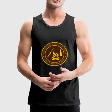 Camper - Beer, tinder, wood, rock - Men's Premium Tank