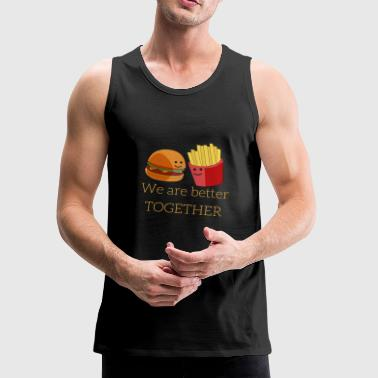 Burger and French Fries - Men's Premium Tank
