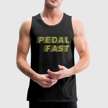 Fast Pedal Fast Cycling I Love Pedaling Riding Bikes Green - Men's Premium Tank