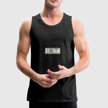 Custom Malcolm X $10 bill - Men's Premium Tank