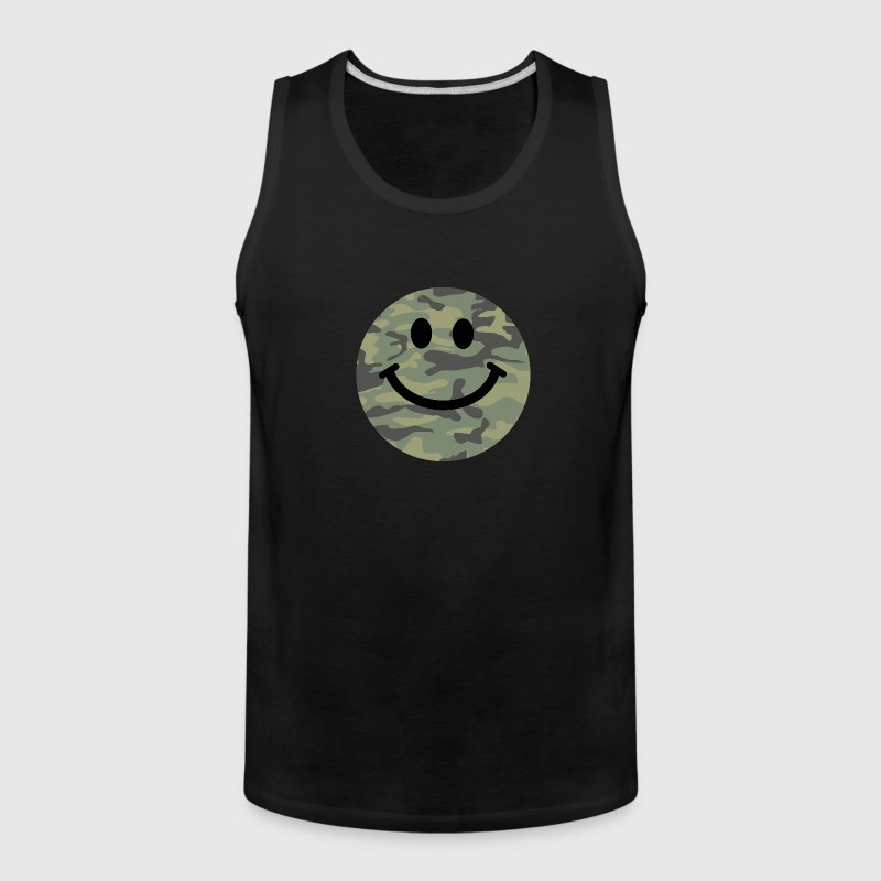 Army green camo Smiley face - Men's Premium Tank