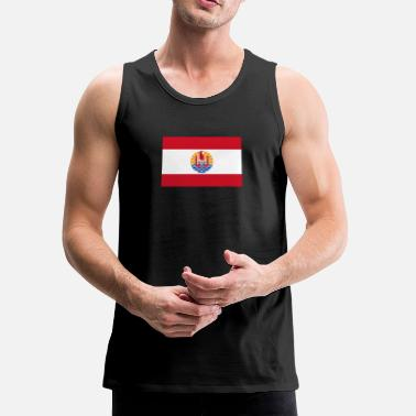 French Flag National Flag Of French Polynesia - Men's Premium Tank