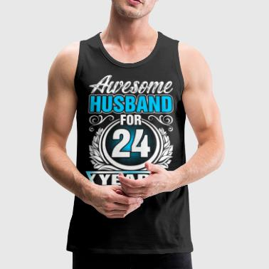 Awesome Husband for 24 Years - Men's Premium Tank