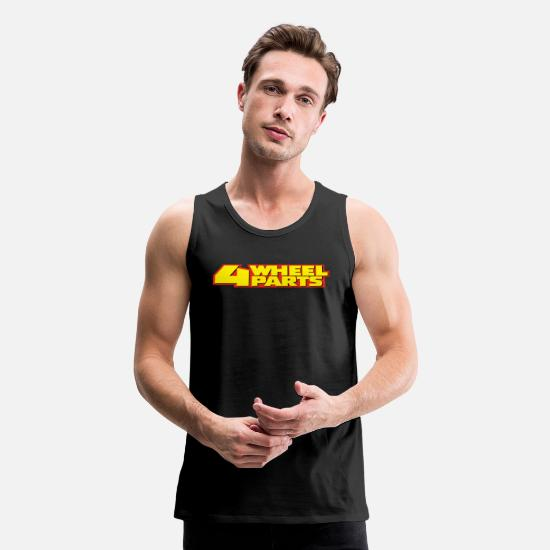 Wheel Tank Tops - Four Wheel Parts - Men's Premium Tank Top black