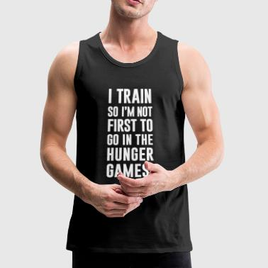 I Train Gym Motivation - Men's Premium Tank