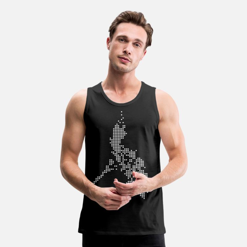 Philippines Tank Tops - Philippines Digital Map - Men's Premium Tank Top black