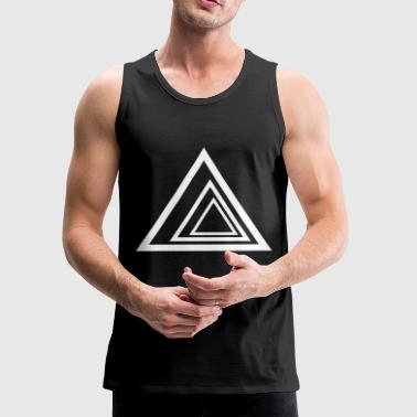 Optical Illusion Triangles - Men's Premium Tank