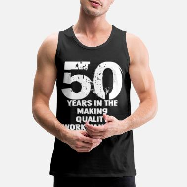 Birthday 50th Birthday Gift Dad Grandpa 50th Birthday - Men's Premium Tank Top