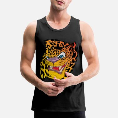 Leopard Leopard with a leopard background - Men's Premium Tank Top