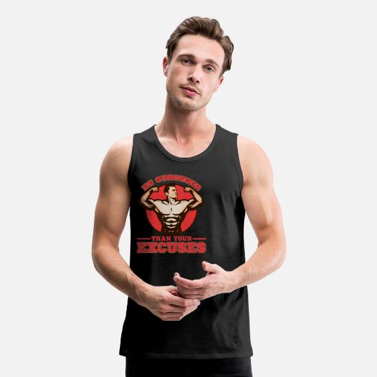 Bodybuilding Tank Tops - Bodybuilder Body Building Strength Training Gift - Men's Premium Tank Top black