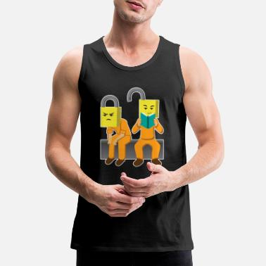Read Decoding Memory Books - Men's Premium Tank Top