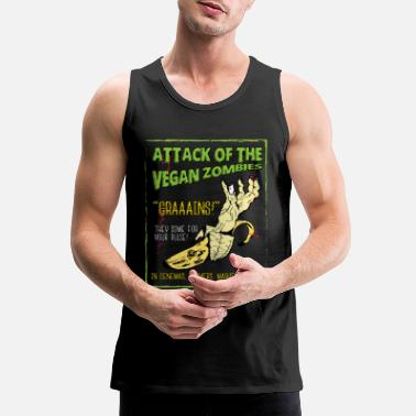 Attack Attack Of The Vegan Zombie.. - Men's Premium Tank Top