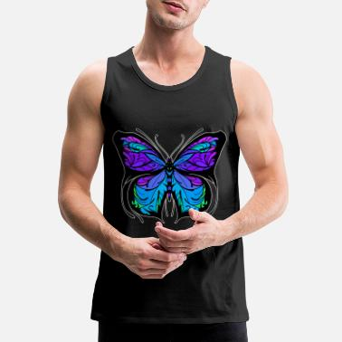 Colorcontest butterfly wing insect colorful gift - Men's Premium Tank Top