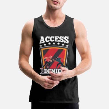 Rugby American Football Player Lineman Quote - Men's Premium Tank Top