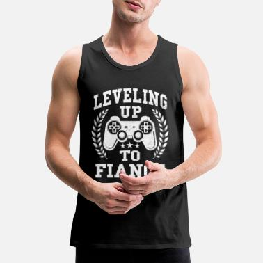 Match Leveling Up To Fiance Newly Engaged Couple Gift - Men's Premium Tank Top