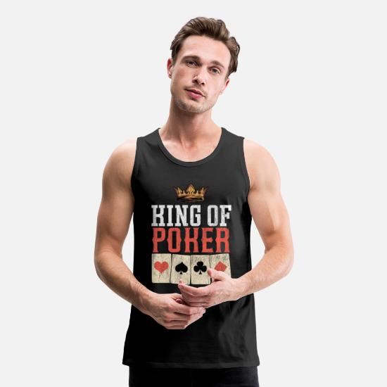 Gift Idea Tank Tops - poker card gamling bluffing shirt - Men's Premium Tank Top black