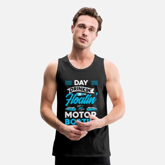 Pontooning Tank Tops - Mens Pontoon Motorboating product | Pontoon - Men's Premium Tank Top black