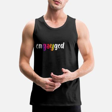 Engayged - LGBT Pride Gay Marriage Bachelor Party - Men's Premium Tank Top