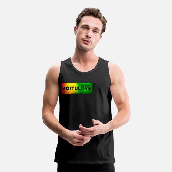 Backwards Tank Tops - revolution backwards - Men's Premium Tank Top black