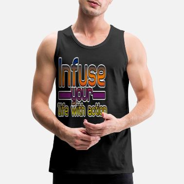 Jumping Spot Infuse your life with actions jumping spot, jump - Men's Premium Tank Top