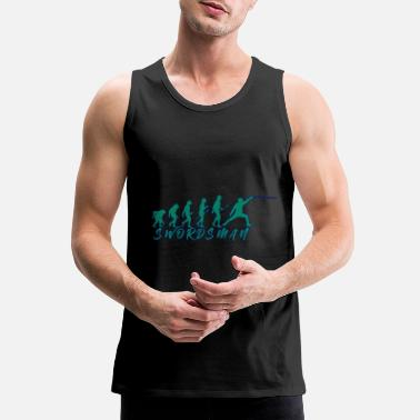 Bronze Age Swordsman when Evolution - Men's Premium Tank Top