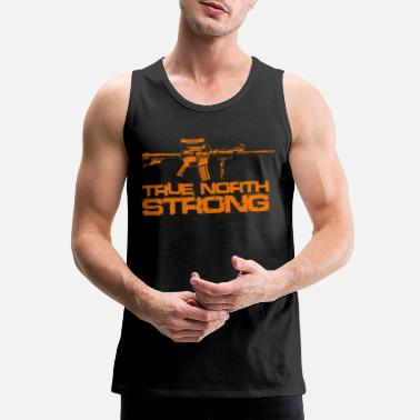 Canadian Military True North Strong Canadian Military - Men's Premium Tank Top