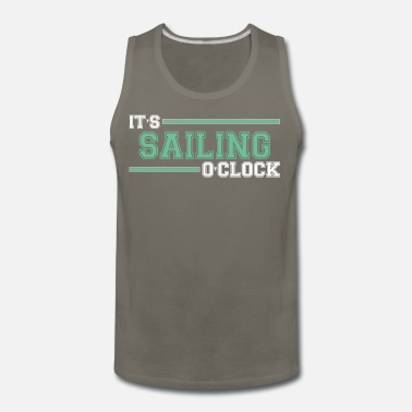 Comics Cute Cool Funny Sailint Time Sailboat Love Gifts - Men's Premium Tank Top