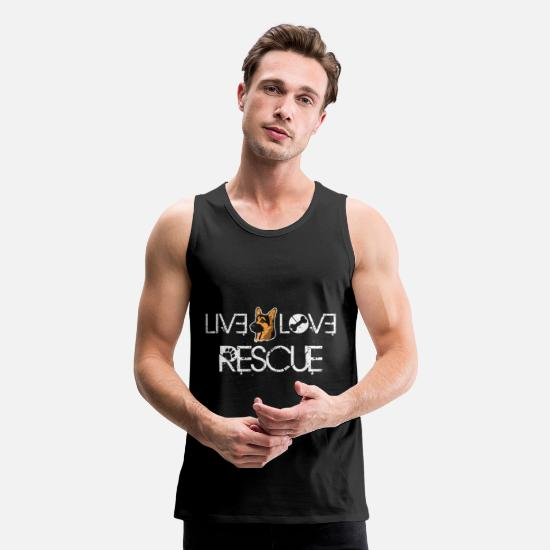 Dog Tank Tops - Live Love Rescue Rescue Dog Owner Rescue Dog T Shi - Men's Premium Tank Top black