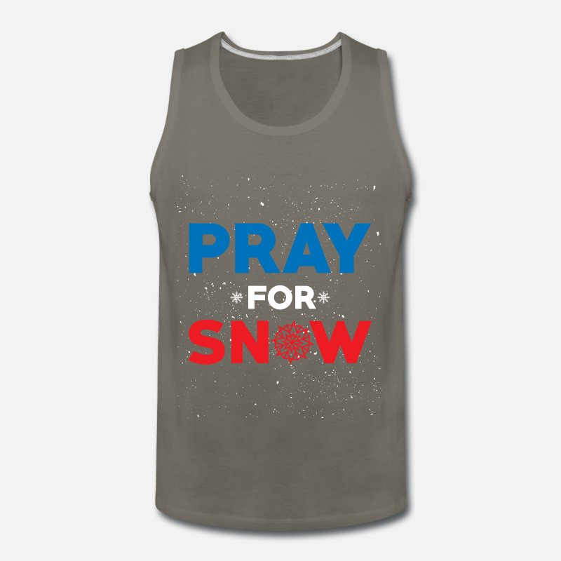 Mad Over Shirts If Its Snowing Im Not Coming Winter Lover Quote Unisex Premium Tank Top