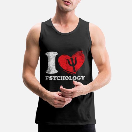 I Love Psychology Men's Premium Tank Top | Spreadshirt