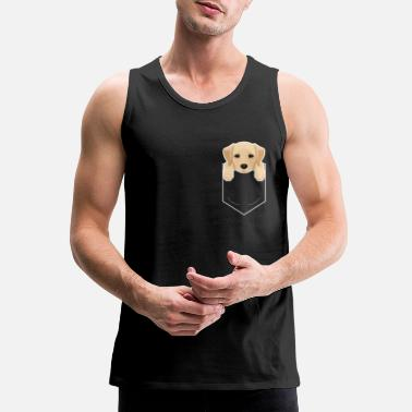 Yellow Yellow Lab In My Pocket Cute Dog Owner - Men's Premium Tank Top