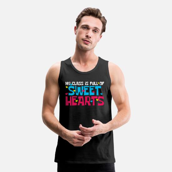 Love Tank Tops - Preschool Teacher Sweetheart Classroom - Men's Premium Tank Top black