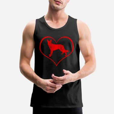 Dog German Shepherd - Men's Premium Tank Top