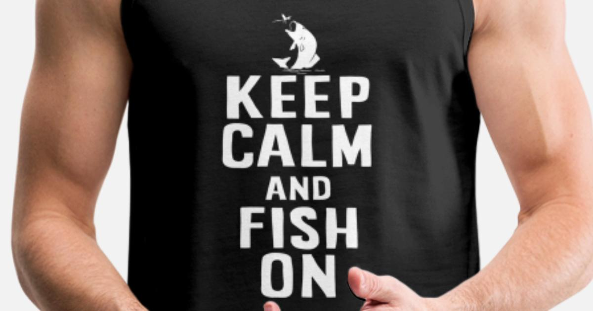 Mad Over Shirts Live to Fish Hobby Passion Unisex Premium Tank Top