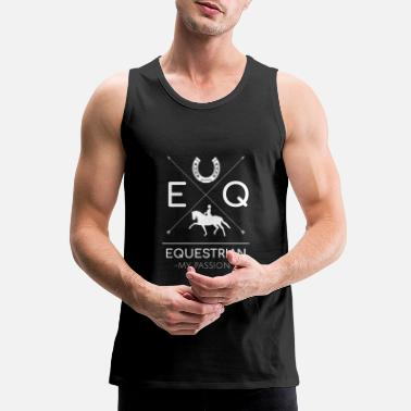 Jumping Spot EQUESTRIAN MY PASSION - Men's Premium Tank Top