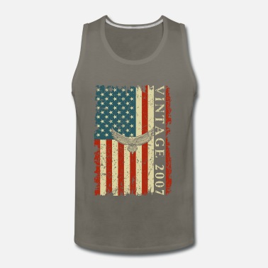 Patriot 2007 13 Year Old Birthday Gifts For Men Funny US F - Men's Premium Tank Top