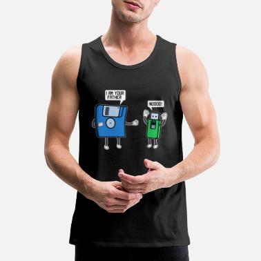 Nerd Father Dad Daddy Tech Funny Nerds USB Stick - Men's Premium Tank Top