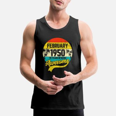 Vintage Retro January 1950 70th Birthday Gifts - Men's Premium Tank Top