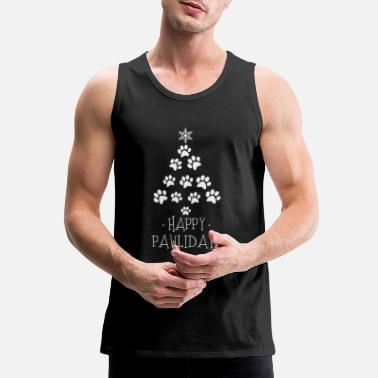 Paw Awesome Happy Pawlidays T shirts - Men's Premium Tank Top
