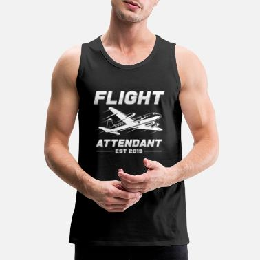 Flight flight attendant - Men's Premium Tank Top