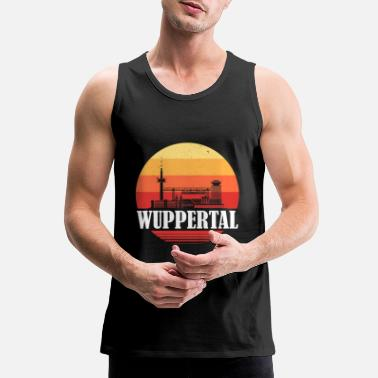 Rhine Wuppertal retro skyline - Men's Premium Tank Top