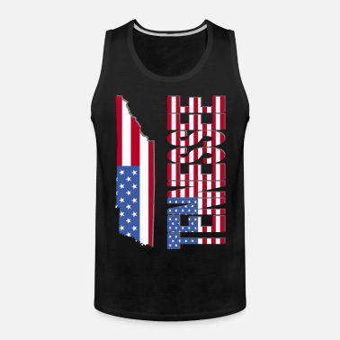 Tennessee United States Flag Patriotic Map Sleeveless T Shirt