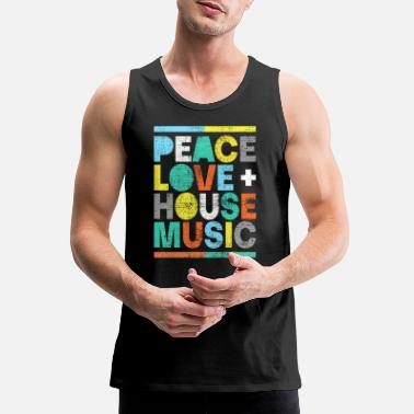 House Peace love house music - Men's Premium Tank Top
