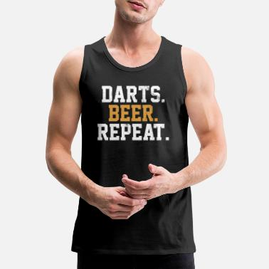 Bar Pub Dart Beer Bar Pub Vintage Arrow - Men's Premium Tank Top