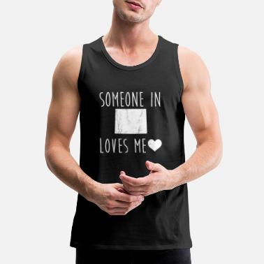 Quote Someone in Wyoming Loves Me! TShirt Cute State - Men's Premium Tank