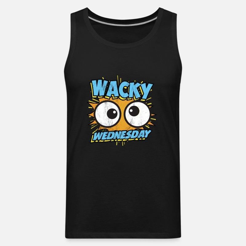 80c3a2666afa Wacky Wednesday Googly Eyes Silly Tshirt Comic Men's Premium Tank Top    Spreadshirt