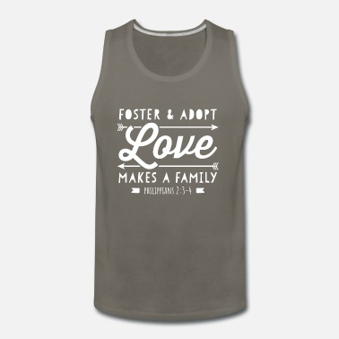 Family Foster & Adopt Love Makes a Family Christian - Men's Premium Tank Top
