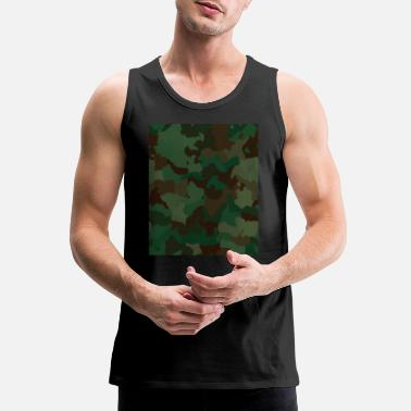Rectangle Camo Rectangle - Men's Premium Tank